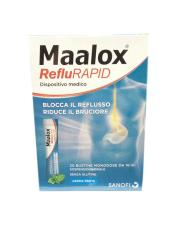 MAALOX REFLURAPID - INTEGRATORE ALIMENTARE UTILE IN CASO DI REFLUSSO ESOFAGEO E BRUCIORE DI STOMACO - 20 BUSTE