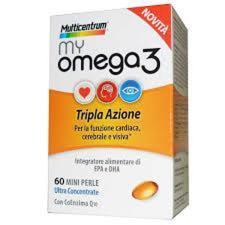 MULTICENTRUM MY OMEGA3 INTEGRATORE ALIMENTARE DI OMEGA 3 - 60 MINI PERLE